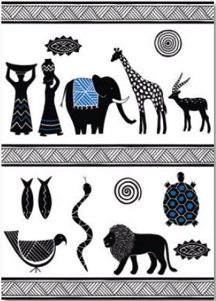 מדבקת קיר אפריקה