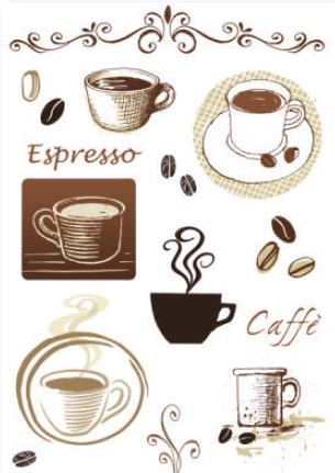 מדבקת קיר - בית קפה