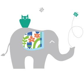 מדבקת קיר של פיל
