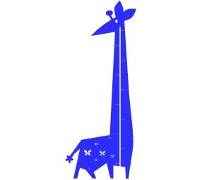מדבקת קיר ילדים - ג'ירפה מד גובה