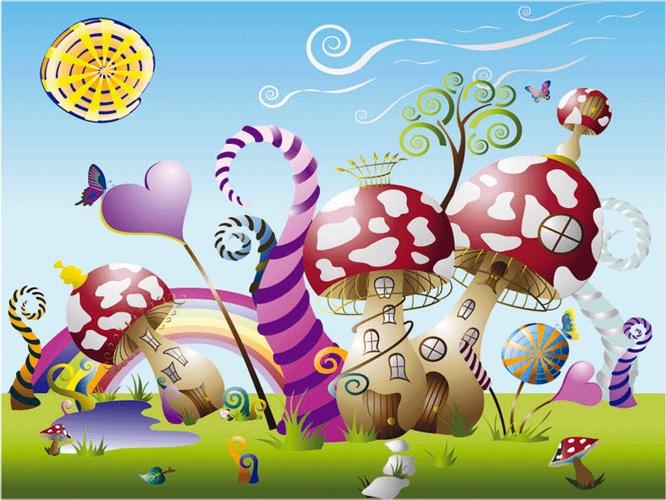 תמונת טפט פטריות - Kids - Mushrooms