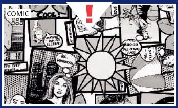 טפט להדבקה עצמית - קומיקס
