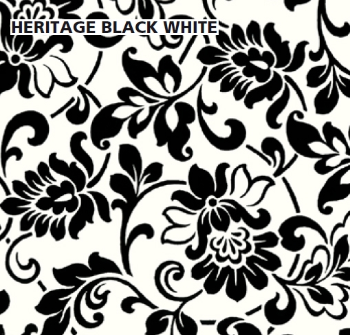 טפט להדבקה עצמית - Heritage black/white