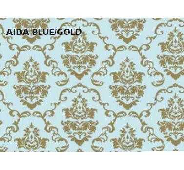 טפט להדבקה עצמית - Aida blue/gold