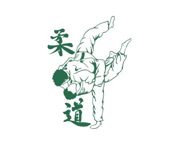 מדבקת קיר ג'ודו - ספורט