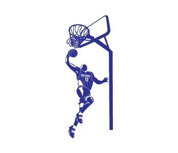 מדבקת קיר כדורסל