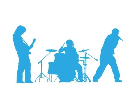 מדבקת קיר של להקת רוק