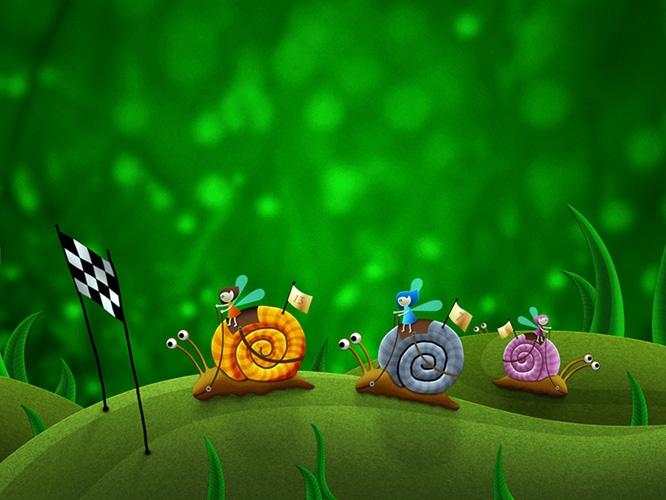 תמונת טפט מירוץ שבלולים - Kids-The Race