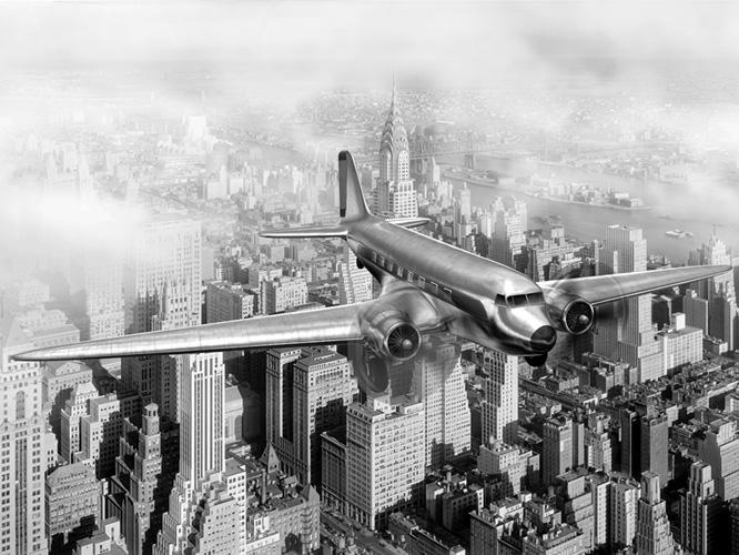 תמונת טפט אוירון שחור לבן - Airplane