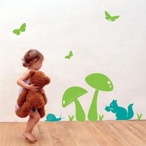 מדבקת קיר ילדים - friends
