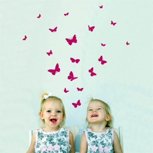 מדבקת קיר ילדים - פרפרים