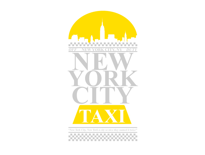 מדבקת קיר - New York City Taxi