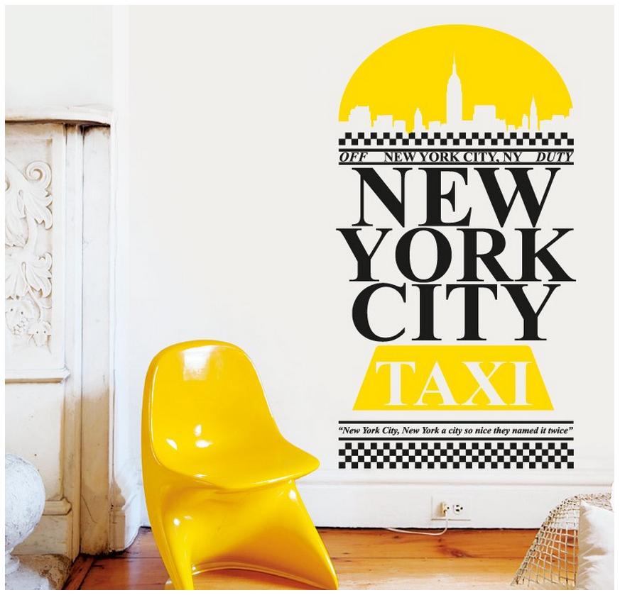 מדבקת קיר - New York City Taxi