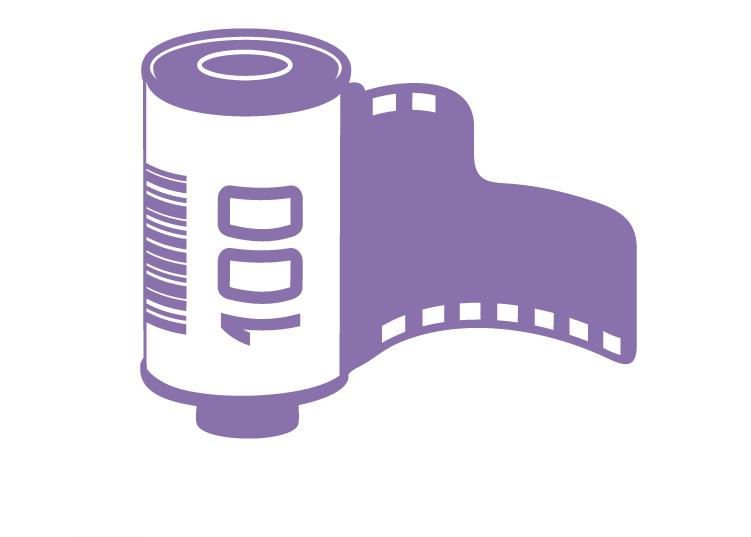מדבקת קיר - סרט צילום