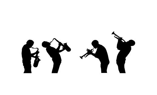 מדבקת קיר של נגני ג'אז