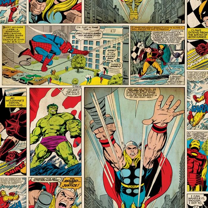 טפט לקיר - גיבורי מרוול קומיקס