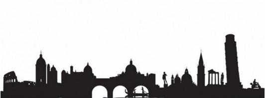מדבקת קיר של קו הרקיע באיטליה