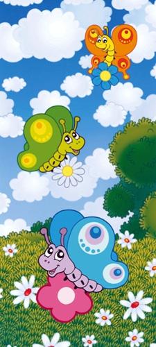 תמונת טפט פרפרים מצויר - Kids - Butterflies