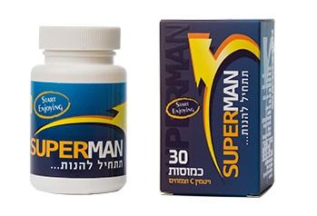 30 כמוסות סופרמן לזיקפה - Super Man באישור משרד הבריאות