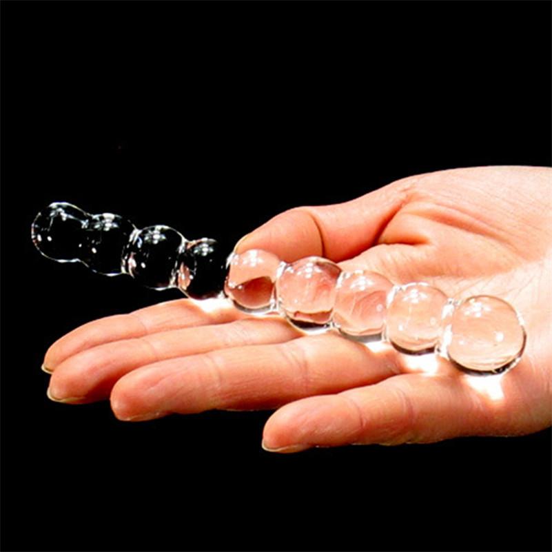 מוט חרוזים קטן מזכוכית שקופה