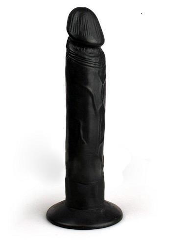 דילדו שחור ישר ארוך ונצמד כמו אמיתי בגודל 9 אינצ