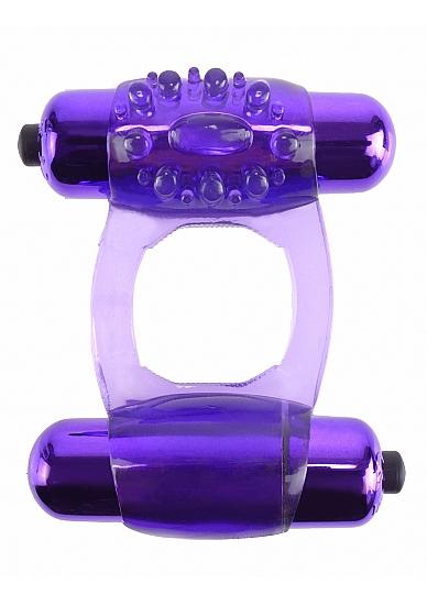 טבעת רטט זוגית מסיליקון ו-2 מנועי רטט