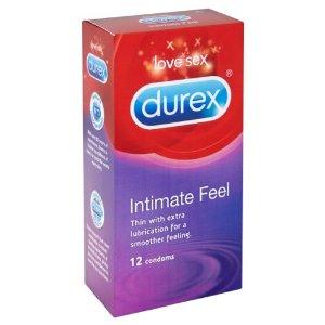 12 קונדומים דורקס Intimate Feel - דקים עם חומר סיכה