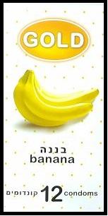 12 קונדומים GOLD - בטעם וריח בננה