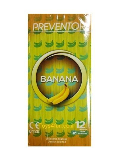 12 קונדומים פרוונטור בטעם בננה