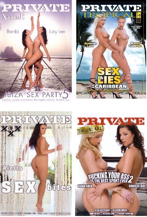 4 סרטי DVD איכותיים בסקס על החוף של חברת פרייבט