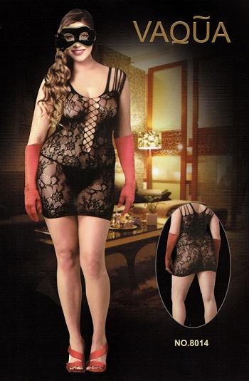 שמלת תחרה עם כתפיות חוטים