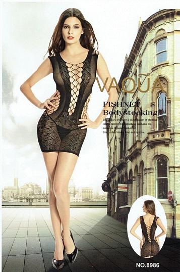 שמלת מיני בדוגמת קשירות ורשת