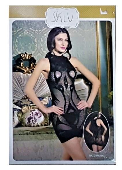 שמלת מיני בדוגמת רשת