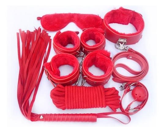 סט קינקי לקשירה ומימוש פנטזיות נסתרות בצבע אדום