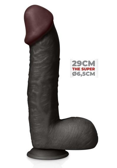 דילדו שחור עבה ונצמד 29 סמ בהיקף 6.5 סמ - הסופר
