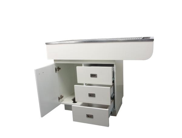 שולחן רופא שיניים למינציה נירוסטה