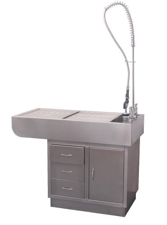 שולחן טיפולים רטובים נירוסטה