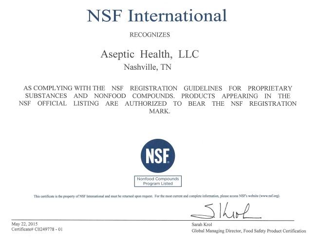 חומר חיטוי וטרינרי אספטיק aseptic plus (אנטיספטי - anticeptic)