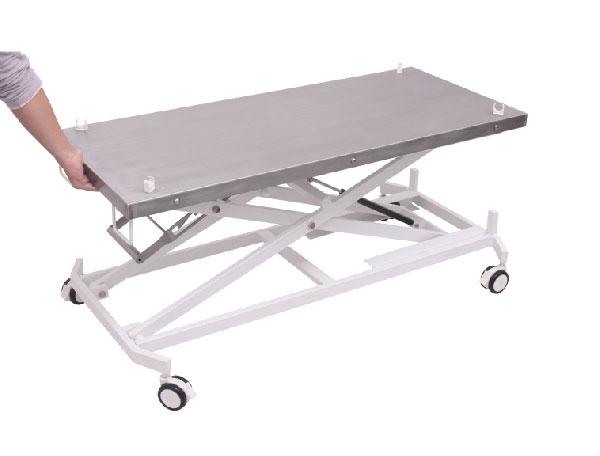 שולחן מתקפל עם אלונקה נשלפת מברזנט  לבעלי חיים