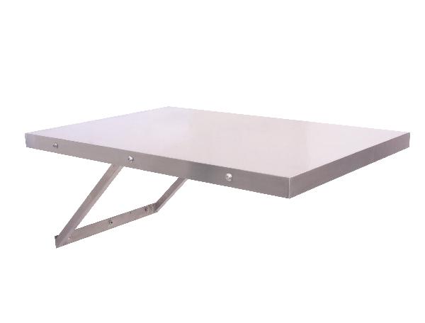 שולחן טיפולים 100% נירוסטה נתלה על הקיר מתקפל מידות 60X90