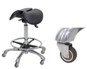 כסא אוכף אורטופדי גבוהה עם גלגלי סיליקון