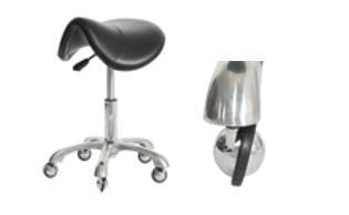 כסא אוכף עם גלגלים לא תופסים שיער