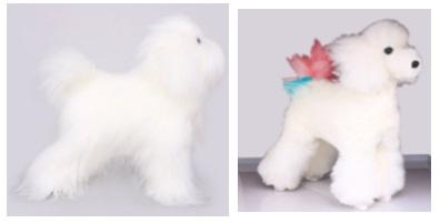 שיער גוף לבן מלא לבובת טדי