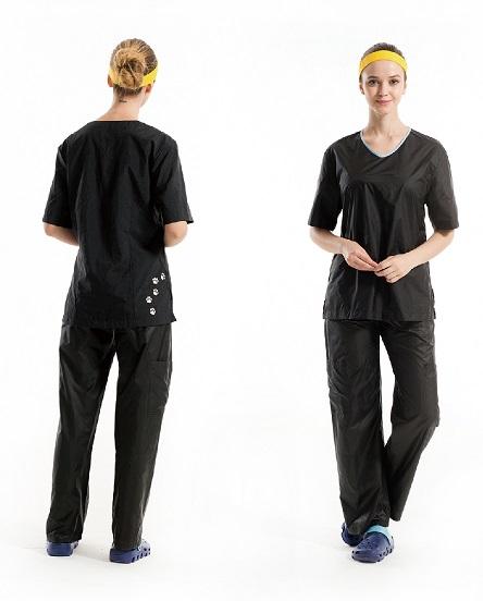 חולצת עבודה יוניסקס שחורה דגם HEBE