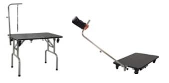 שולחן טיפוח מתקפל בינוני עם גלגלים 90*60