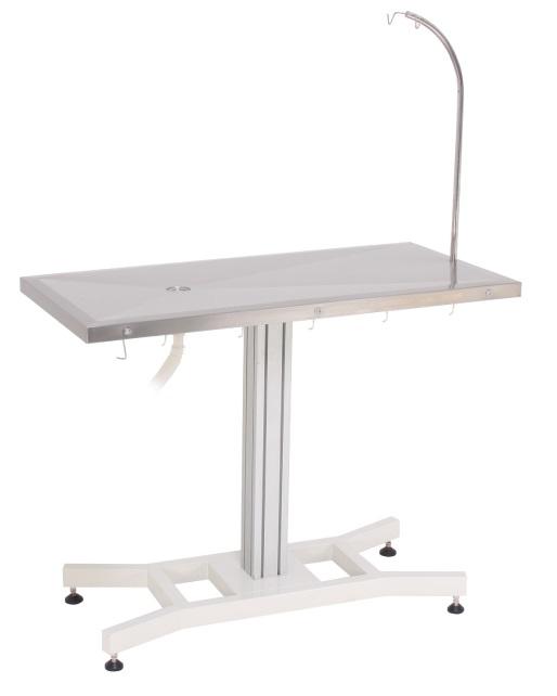 שולחן טיפולים ניתוחים קבוע עם רגל אמצע יציבה 120*60