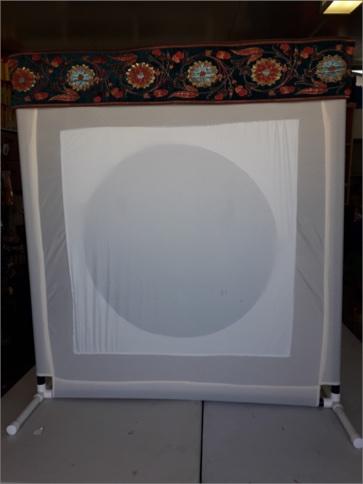 מסך צלליות משולב 100*100 עיגול בתוך ריבוע