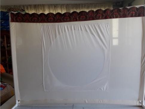 מסך צלליות משולב 150*100 ס׳מ עם עיגול 65ס׳מ