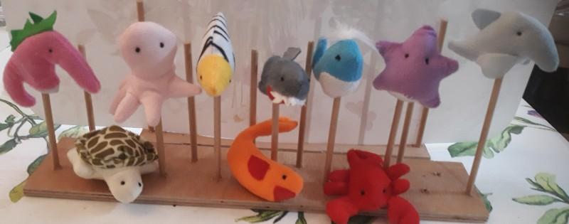 10 בובות אצבע-אוקינוס