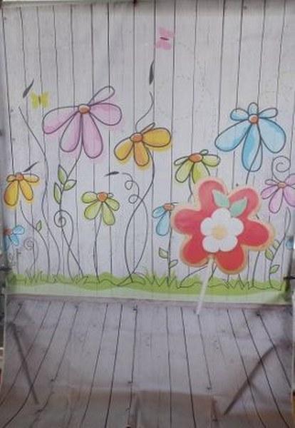 רקע מודפס-מסיבה-פרחים